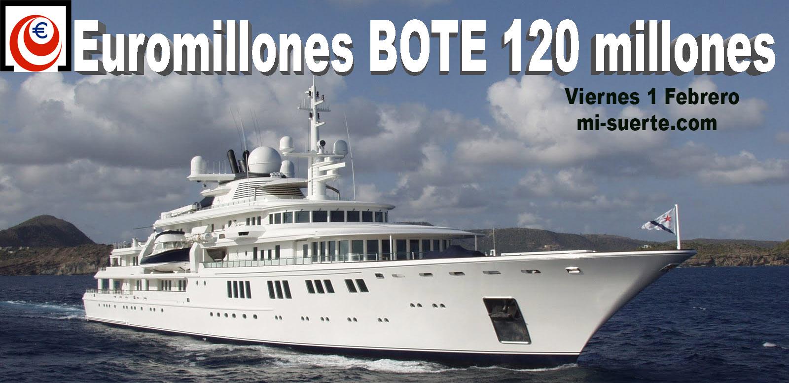 Bote de Euromillones 120 millones