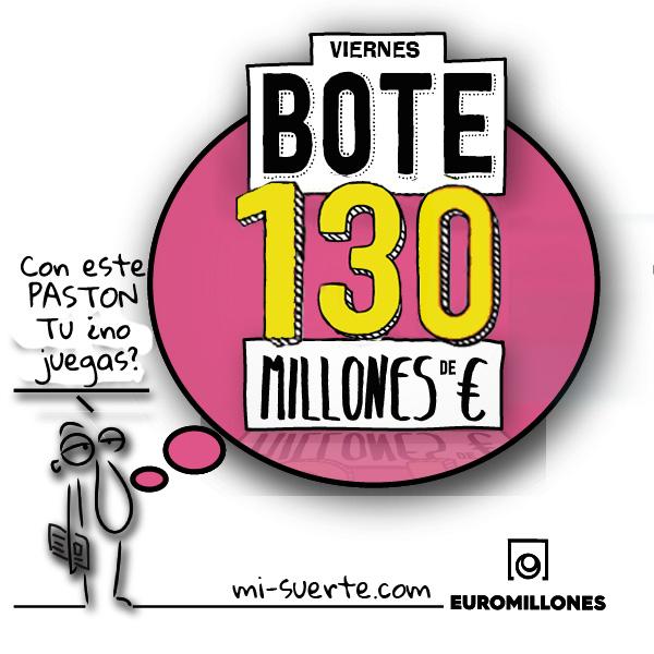 Bote de euromillones 130 millones